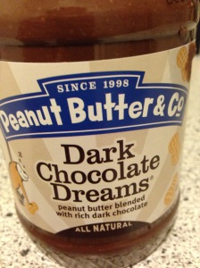 Dark chocolate peanut butter. As good as it sounds. (Plus it has less sugar than nutella)